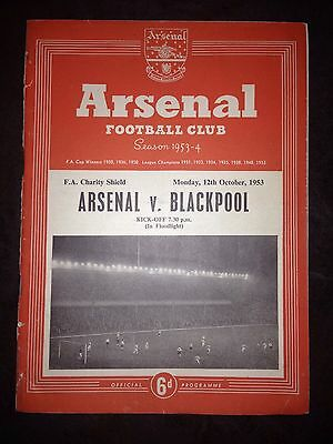 1953 Charity Shield:- Arsenal v Blackpool