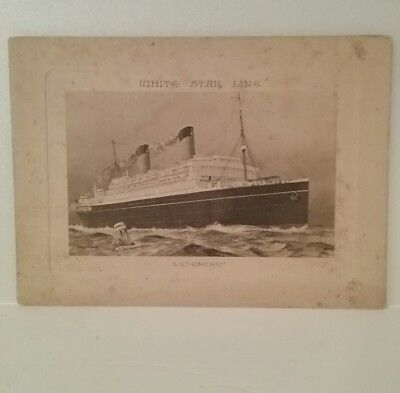 White Star Line S.s.homeric Abstract Of Log