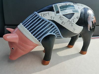 "Department 56 "" Porkers Inc "" Ceramic Pig Piggy Bank Collectible Rare New 2004"