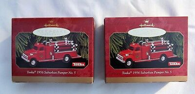 2 HALLMARK TONKA 1956 SUBURBAN PUMPER No.5 FIRE TRUCK ~ NEW IN BOX