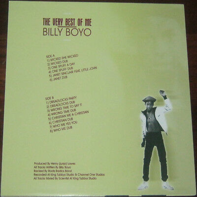 BILLY BOYO The Very Best Of Me L&R RECORDS REISSUE LP