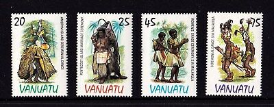 Vanuatu 1985 Dance Costumes Set of 4 MNH