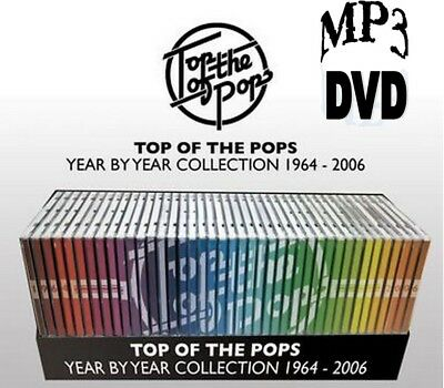 TOP OF THE POPS YEAR by YEAR 1964-2006 ALBUM COLLECTION ALL ON DVD