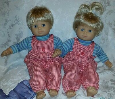 American Girl Bitty Twins Blonde Hair Blue Eyes with Clothes