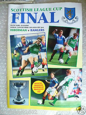 1993 Scottish League Cup FINAL HIBERNIAN v RANGERS, 24th Oct