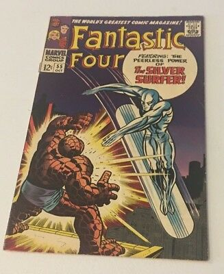 Fantastic Four #55 **4th SILVER SURFER/BATTLES THING** **VF 8.0** **GREAT BOOK**