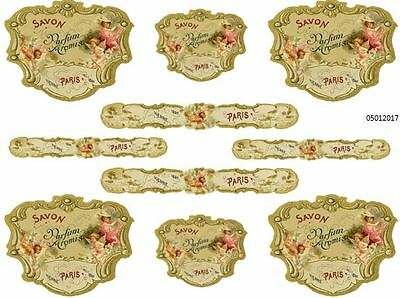 MoRe VinTaGe FRenCh PerFuMe LaBeLs SHaBbY WaTerSLiDe DeCALs