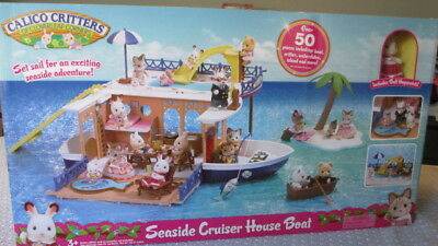 New Calico Critters Seaside Cruiser House Boat Over 50 Pieces Critter Waterslide