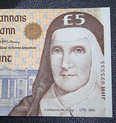 Ireland -1996 Irish McAuley £5 banknote G. EXTRA FINE Currency Five Pounds P75