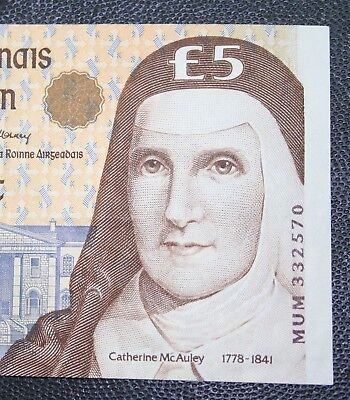 Ireland -1999 Irish McAuley £5 banknote EXTRA FINE Currency Five Pound Note P75