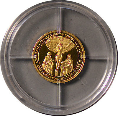 "2006 ""History Of Christianity"" Gold Proof Coin ~ 0.5g 14k Gold ~ NO RESERVE!!!"