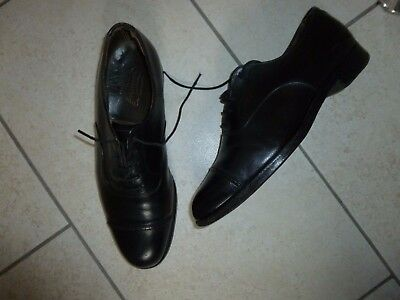 VINTAGE BARRATTS FOOTSHAPE NORTHAMPTON Black Leather Men's Shoes Size 7½