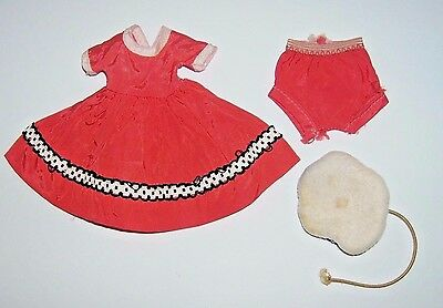 """Vintage Betsy McCall 8"""" doll clothes Taffeta outfit TOWN AND COUNTRY & HAT 1950s"""
