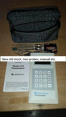 Lakeshore 410 SCAT Gaussmeter Magnetometer with case manual and two probes