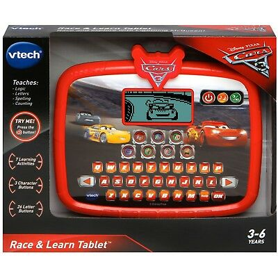 Lightning Mcqueen VTech Disney Pixar Cars 3 Race Learn Tablet Ages 3+ Toy School