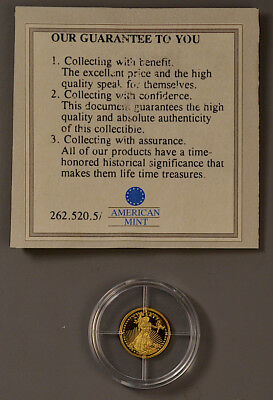"""American Mint Double Eagle 14k 0.5g """"World's Smallest Gold"""" ~ NO RESERVE!!!"""
