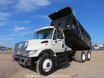 2007 International 7400  T/A Dump Truck DT466 Allison A/T A/C Elec Tarp PTO