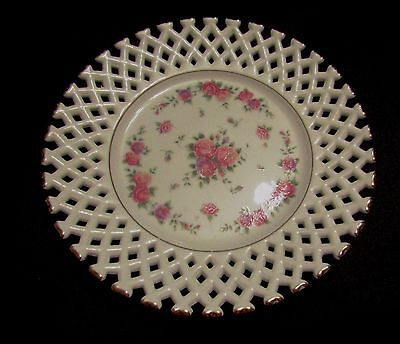 St Michael 5982/7021 Plate Roses Pattern & White Fret Work. May 1988