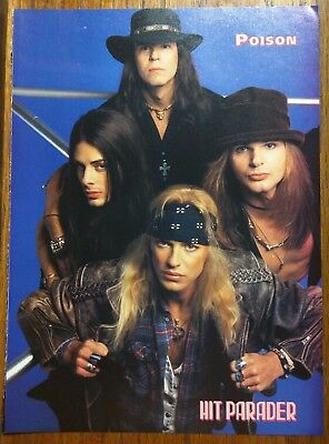 Poison / Richie Kotzen / Bret Michaels / 1993 Magazine Pinup Clipping + Free Dvd