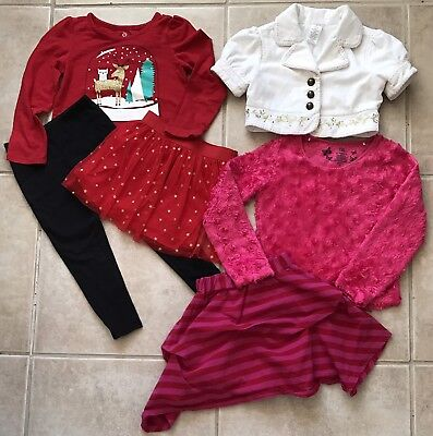 Girls Clothes Lot Size 4-5 4 5 Fall Winter Nice Pretty Outfits