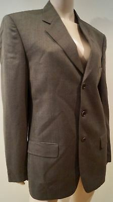 UNGARO POUR L'HOMME Menswear Brown Pure Wool Lined Formal Blazer Jacket 48R