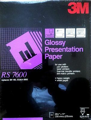 3M Glossy Presentation Paper (RS 7620) Replaces 3M 180, Scotch 8805