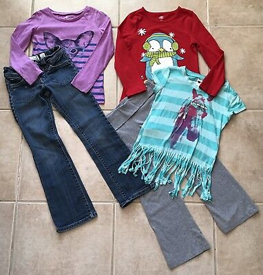 Girls Clothes Lot Size 7/8 Shirts Jeans Pants Outfits Nice School Winter 7 8