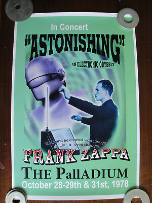 Frank Zappa at the Palladium in New York City Concert Poster Circa 1978 Repro?