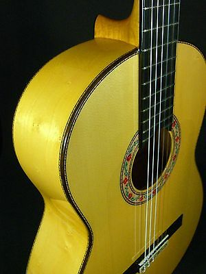Special Flamenco Spanish Guitar.juan Montes Sole Model Solid Bird's Eye Cypress