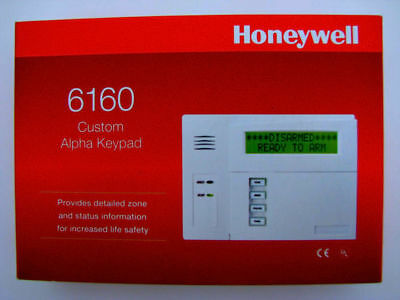 Honeywell 6160 Alarm Keypad. Brand New. Sealed. Never Used.
