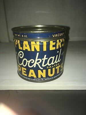 Planters Cocktail Peanuts Tin 1938 Mr. Peanut
