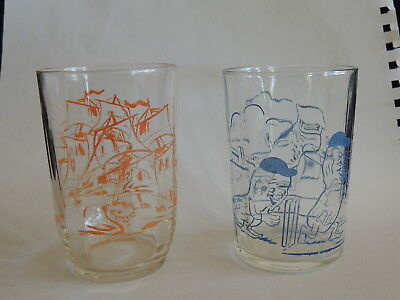 2 RETRO AUSTRALIAN  COLLECTORS' GLASSES- 1 x ETA, & 1 x UNBRANDED-VERY GOOD COND