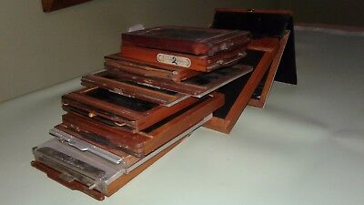 Wooden Film Holders 4x5  &  4x3 incl. Premo & Poco Film Pack Adapters,Lot of 11