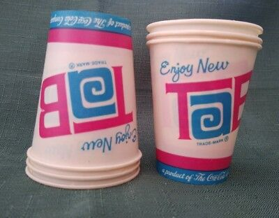 Vintage Enjoy Tab Cola 'Free Sample' Wax Cup Lot, 6 count-New Old Stock-Mint-4oz