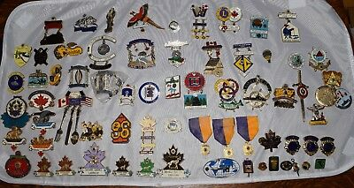 Lot of 67 Vintage Lions Club Pins Incl. Convention, Attendance, V.P., Director