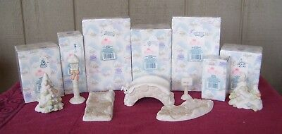 Precious Moments ENHANCEMENT SET - 7 PCS - for Sugar Town Collection  (E-4)