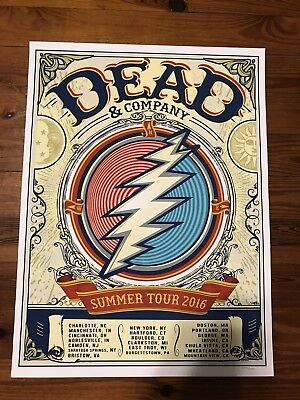 Dead and & Company 2016 Summer Tour VIP Poster Sgarbossa