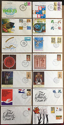 14 assorted 1970'S AUSTRALIA FDCs - FIRST DAY COVERS