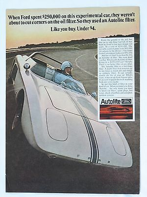 1968 Ford-Autolite Print Advertisement with Experimental Car