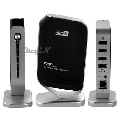 Networking 4 USB 2.0 Ports Print Server Share 4 USB Devices