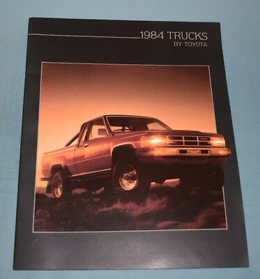 1984 Toyota Pickup and 4 X 4 Truck Sales Brochure Canadian English