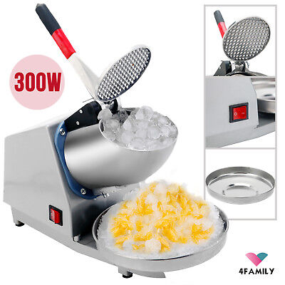 Commercial Electric Ice Crusher Shaver Machine Snow Cone Maker Home Shaved Ice