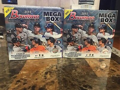 2017 bowman mega box Factory Sealed 2 Box Lot. Hot, Aaron Judge