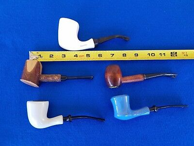 "Vintage Lot 5 Estate Smoking Pipes Tobacco Pipes Amsterdam ""smoke"" Brand L@@k"
