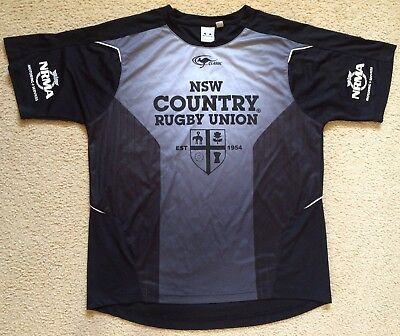 NSW Country Rugby Union Training Shirt not Jersey - Mens Size L - VGC
