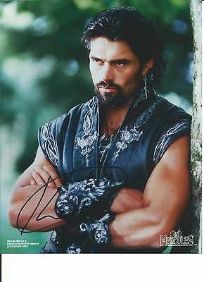 Rare XENA Autograph Photo SIGNED by KEVIN SMITH as ARES Auto HERCULES Candid Pic