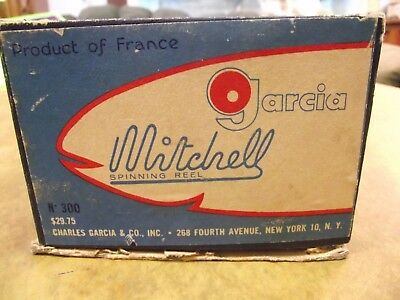 Vintage Mitchell 300 Fishing Reel Garcia Product Made in France w/Box + Spool