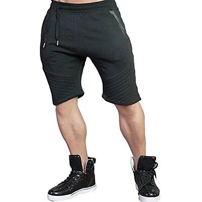 Men's Tapered Gym Workout Sweat Jogger Shorts (XS,Black) NEW GIFT