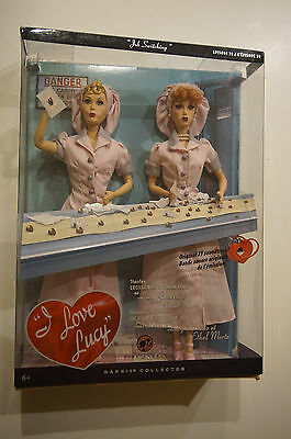 I Love Lucy Barbie Giftset Job Switching Episode 39 Lucy and Ethel NIB two dolls