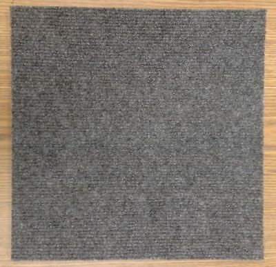 Carpet Tiles Peel and Stick 144 Square Feet Charcoal Self Adhesive Squares